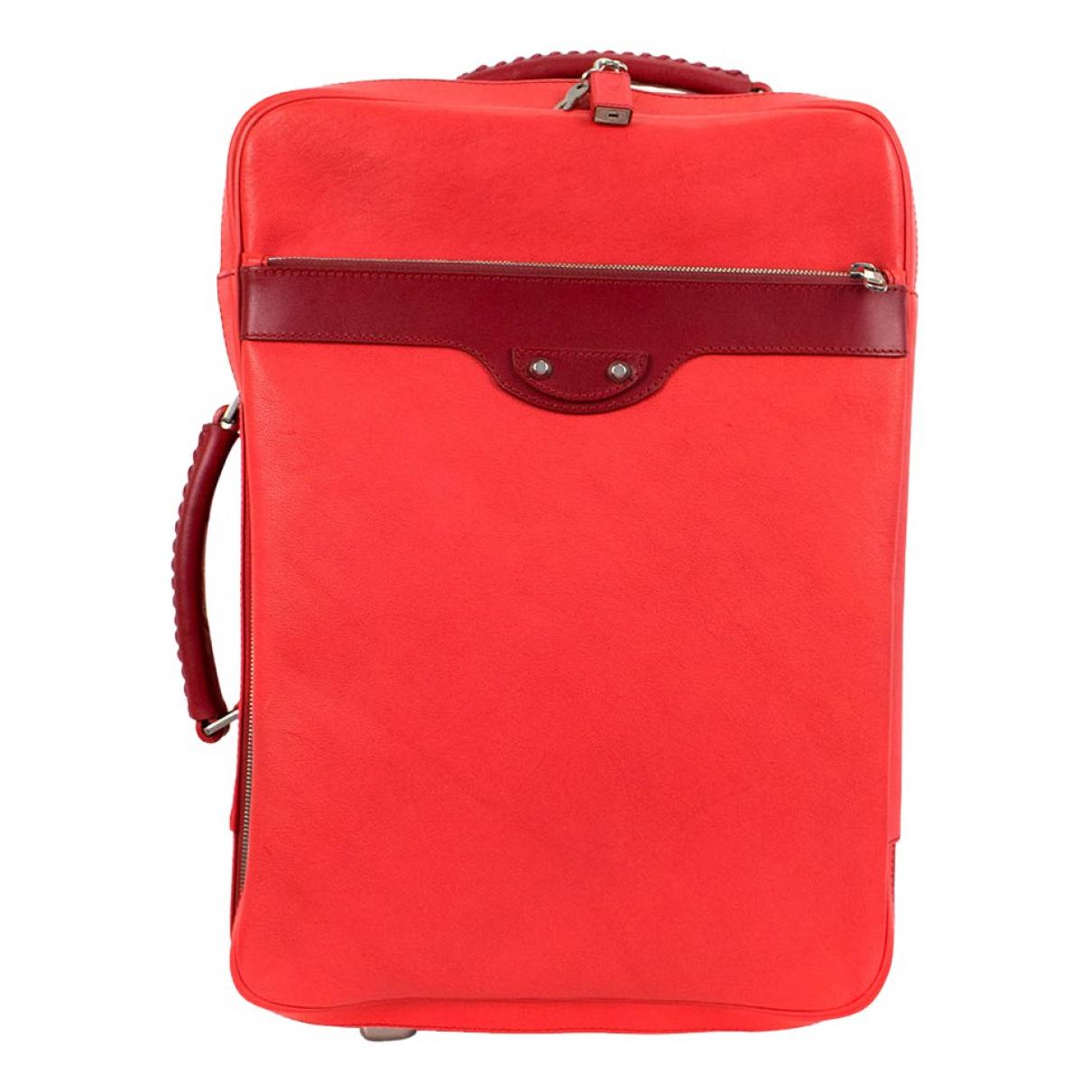 Balenciaga - Sac de voyage   pour femme en cuir - rouge