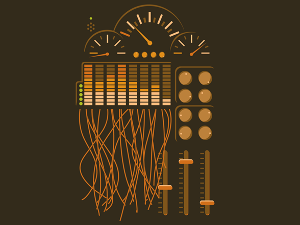 Faders And Meters T Shirt