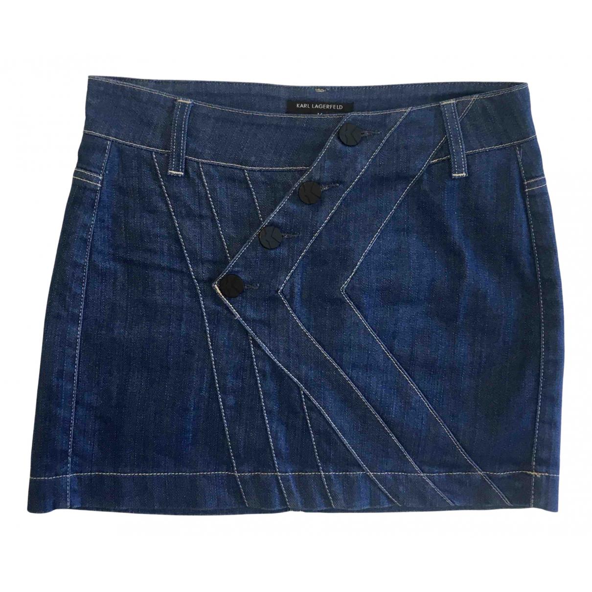 Karl Lagerfeld N Navy Denim - Jeans skirt for Women S International