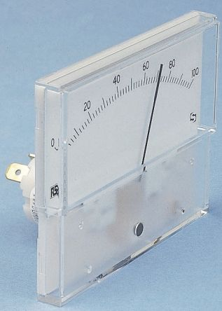 Sifam Tinsley Analogue Panel Ammeter 50μA DC, 20.2mm x 42.4mm, ±2.5 % Moving Coil