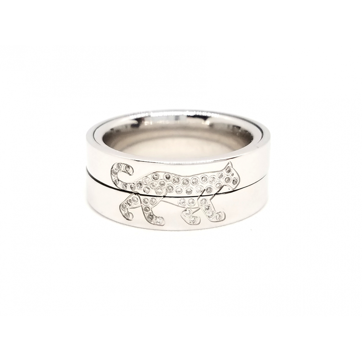 Non Signé / Unsigned Motifs Animaliers Silver White gold ring for Women \N