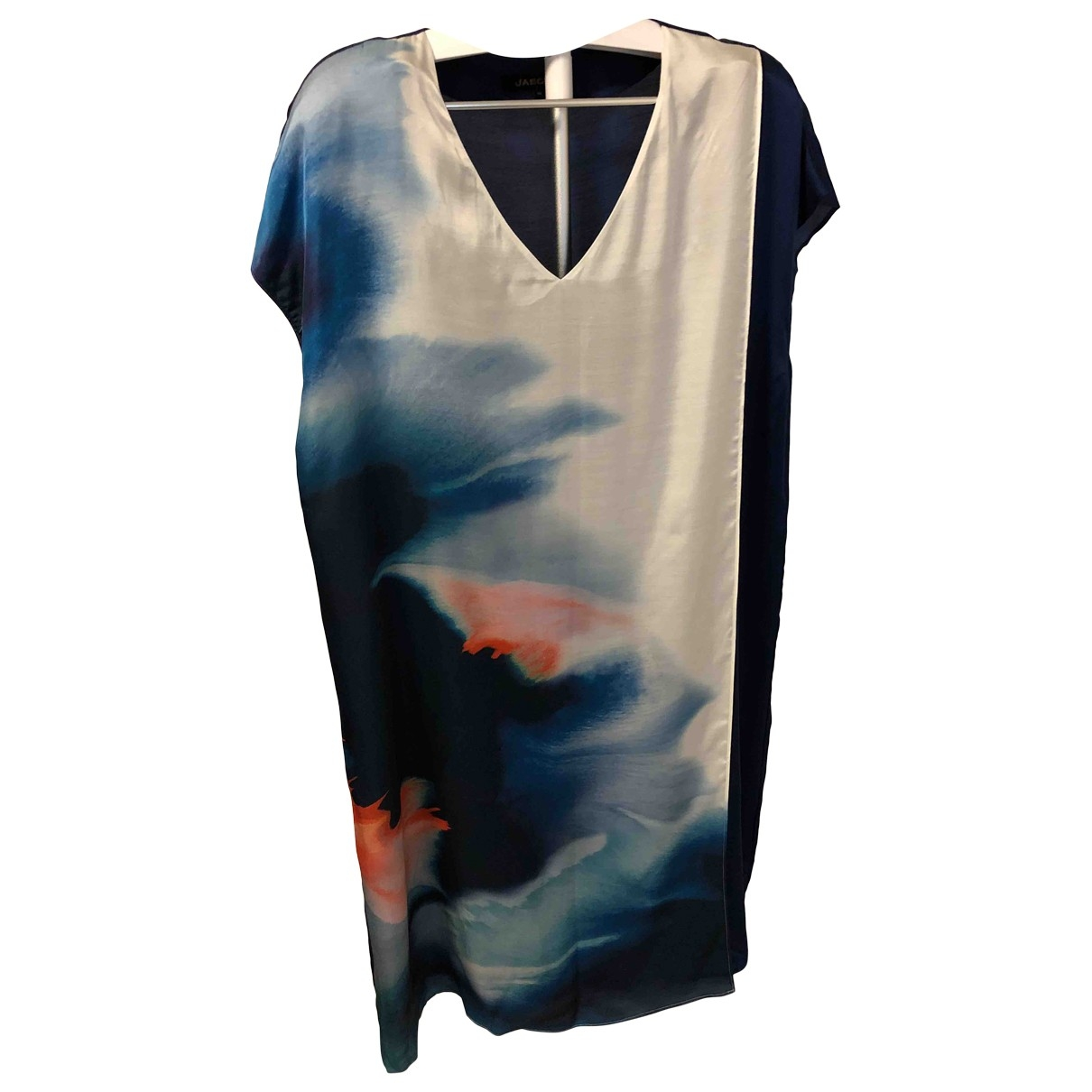 Jaeger \N Blue Silk dress for Women 16 UK
