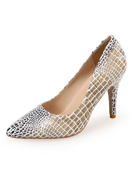 Milanoo Women's High Heels Animal Print Pointed Toe Stiletto Heel Chic Pumps