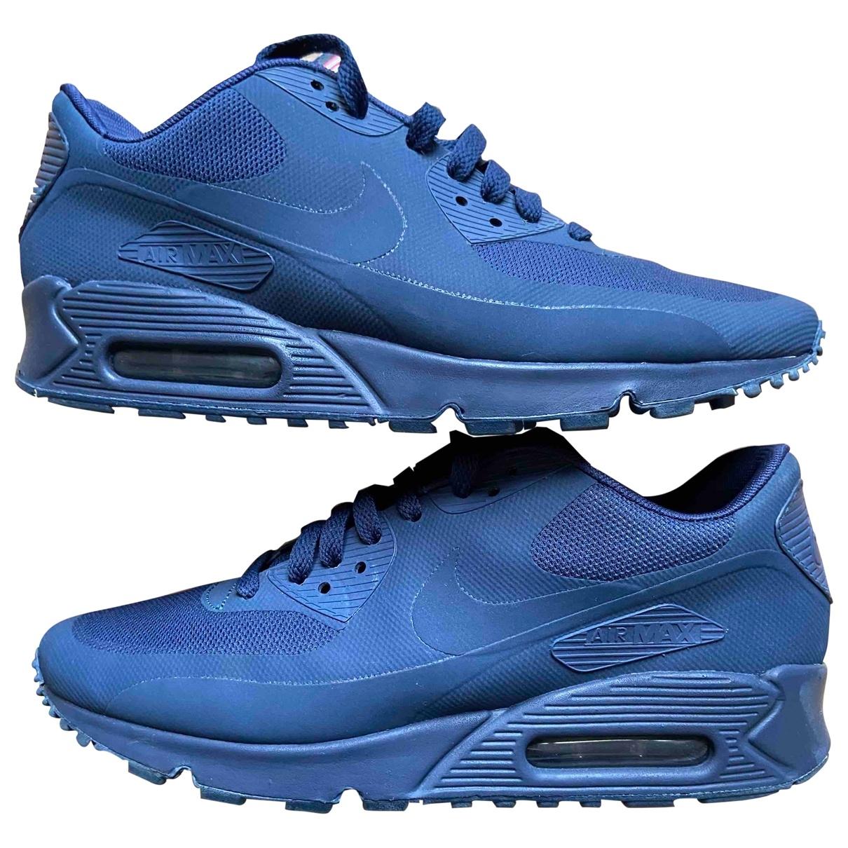 Nike - Baskets Air Max 90 pour homme en caoutchouc - bleu