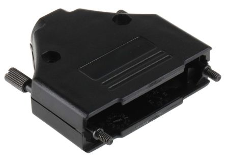 MH Connectors , MHDTPPK ABS D-sub Connector Backshell, 25 Way, Strain Relief, Black (5)