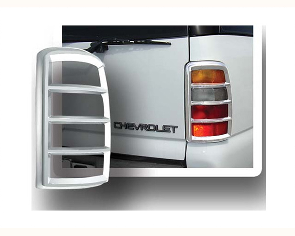 Quality Automotive Accessories ABS Plastic with Chrome Overlay 2-Piece Tail Light Bezel GMC Yukon XL 2006