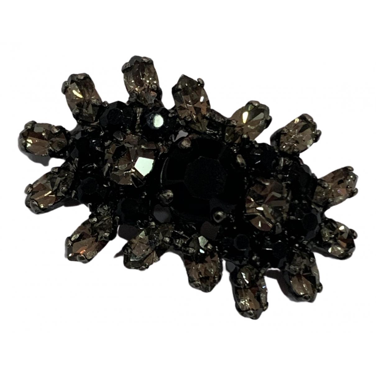 Broche en Metal Negro Marni
