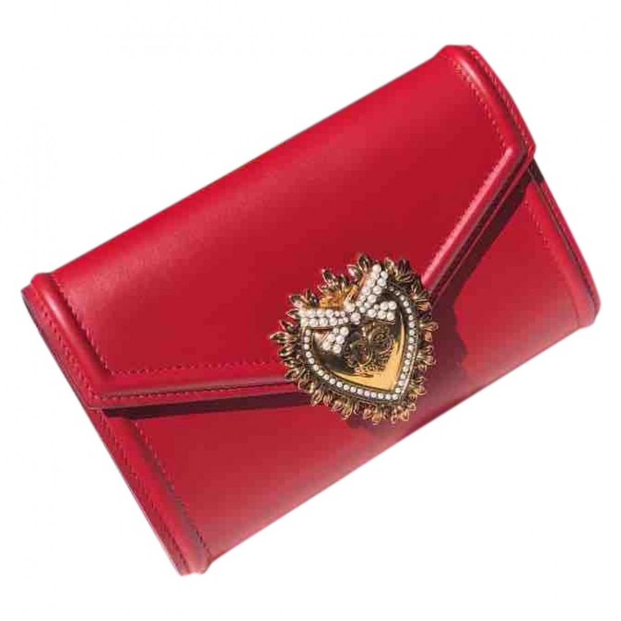 Dolce & Gabbana Devotion Red Leather handbag for Women \N