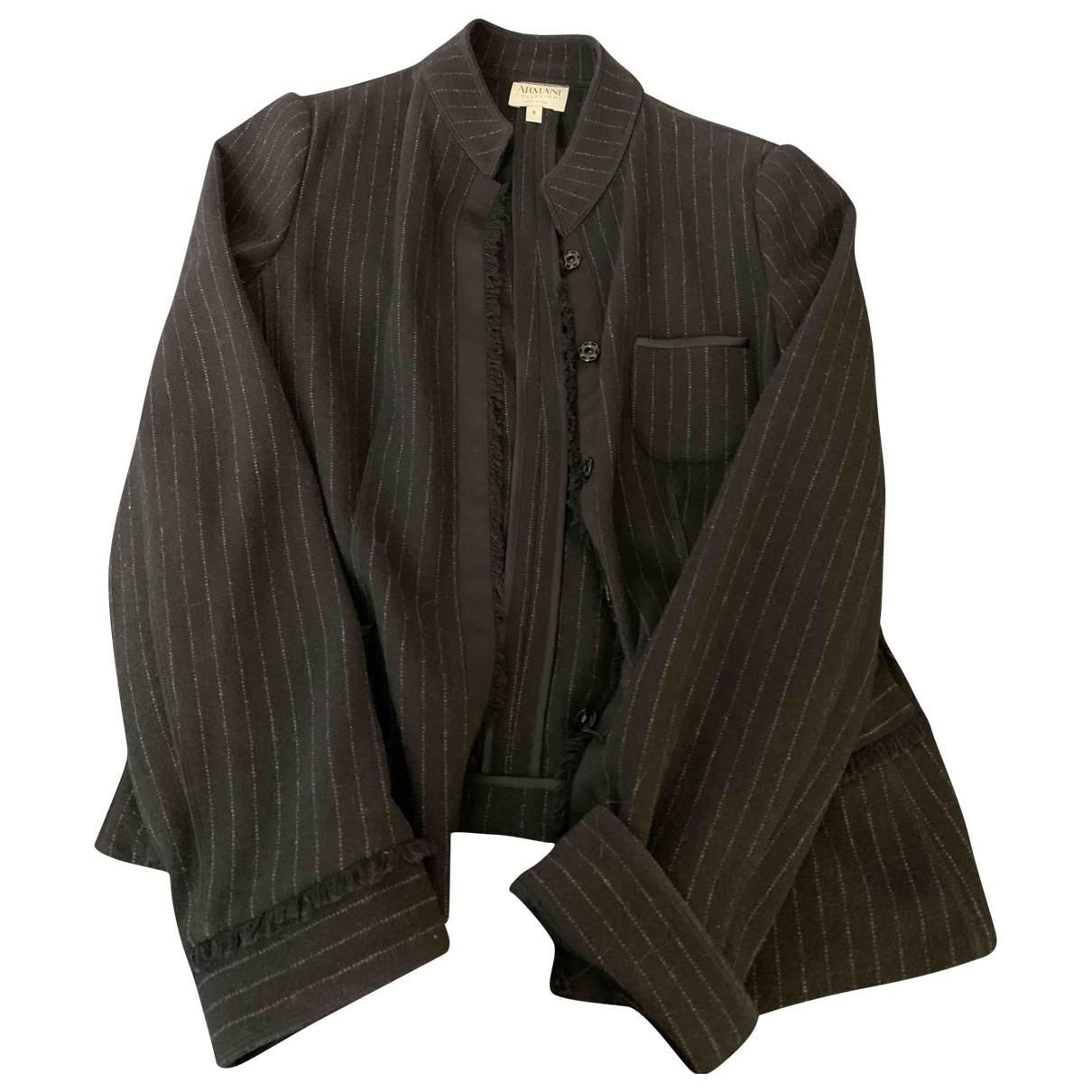 Armani Collezioni \N Black Wool jacket for Women 8 US