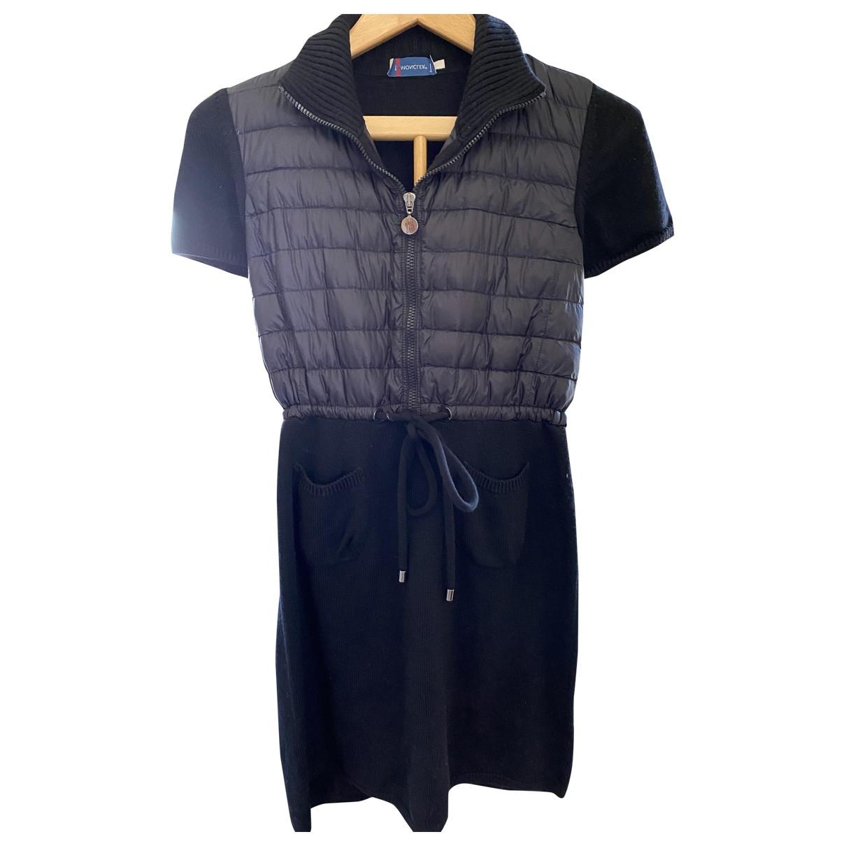 Moncler - Robe   pour femme en laine - noir