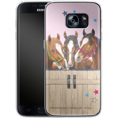 Samsung Galaxy S7 Silikon Handyhuelle - Pferdefreunde 3 von Pferdefreunde