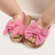 Baby Girl Bow Decor Slingback Sandals