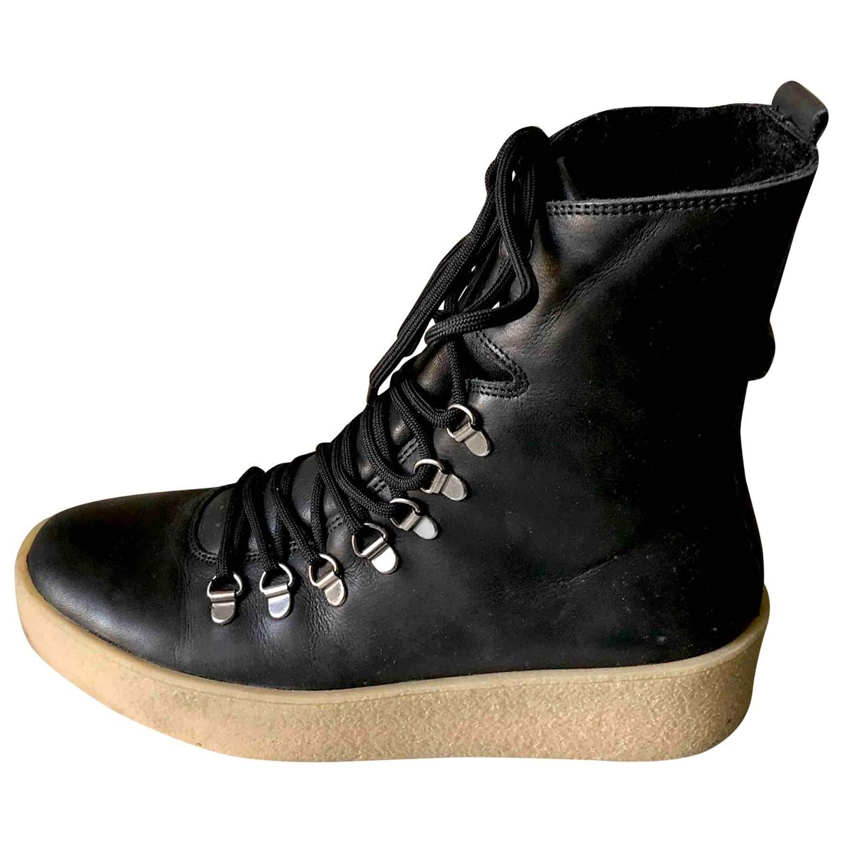 Royal Republiq - Boots   pour femme en cuir - noir