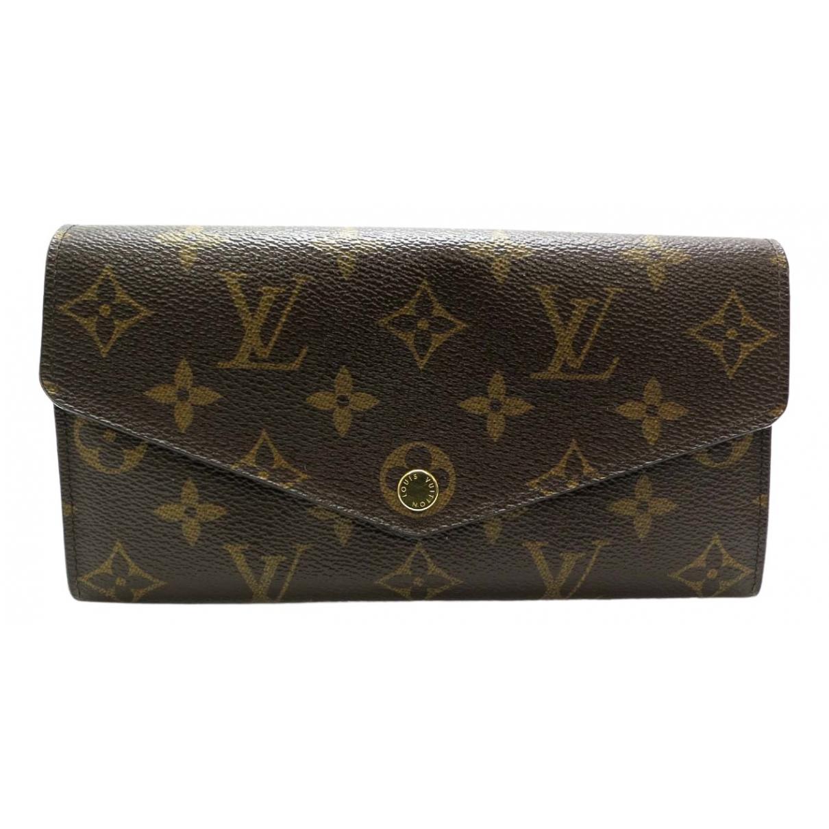 Louis Vuitton Sarah Brown Cloth wallet for Women N