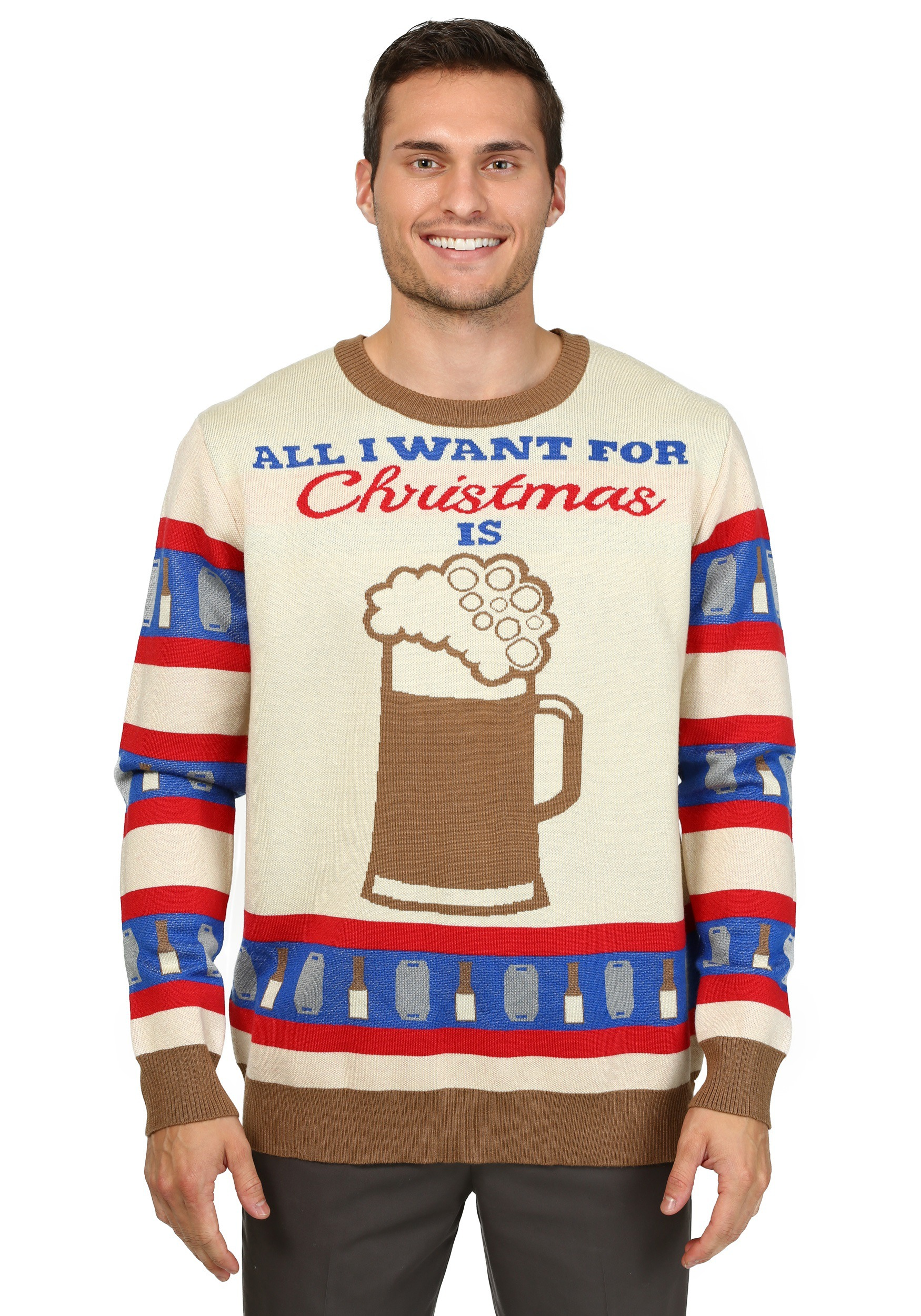 All I Want for Christmas is Beer Ugly Christmas Sweater