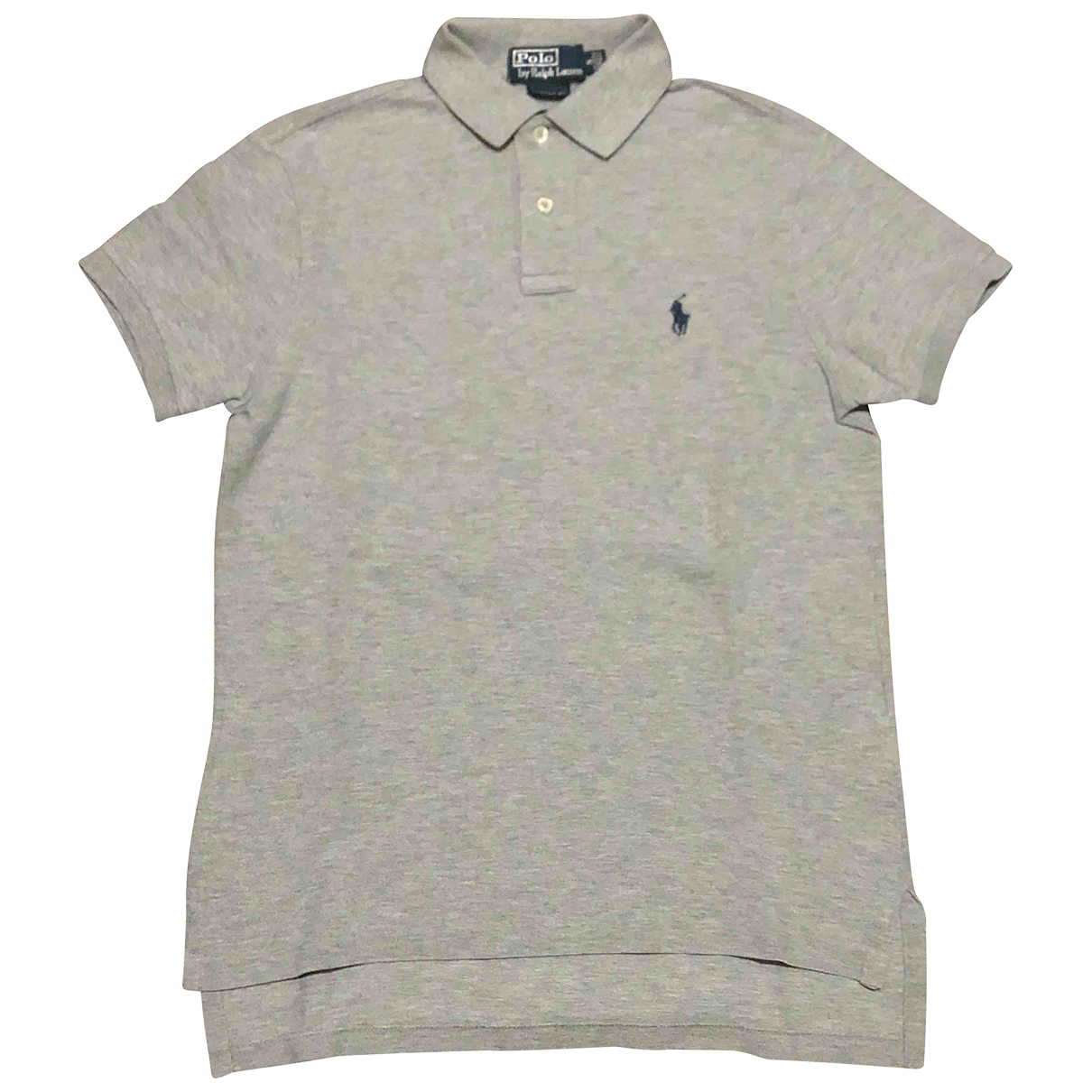 Polo Ralph Lauren Polo ajuste manches courtes Poloshirts in  Grau Baumwolle