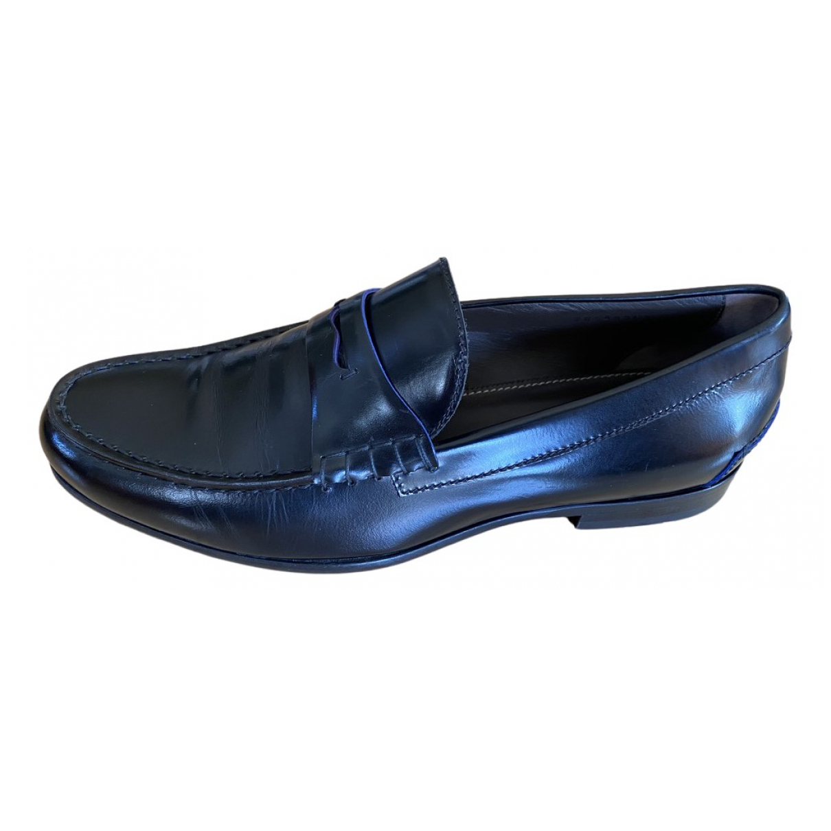 Boss N Black Leather Flats for Men 8.5 UK