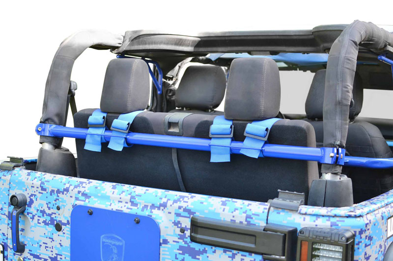 Steinjager J0048268 Harness Bar Kit Wrangler JK 2007-2018 2 Door Rear Southwest Blue