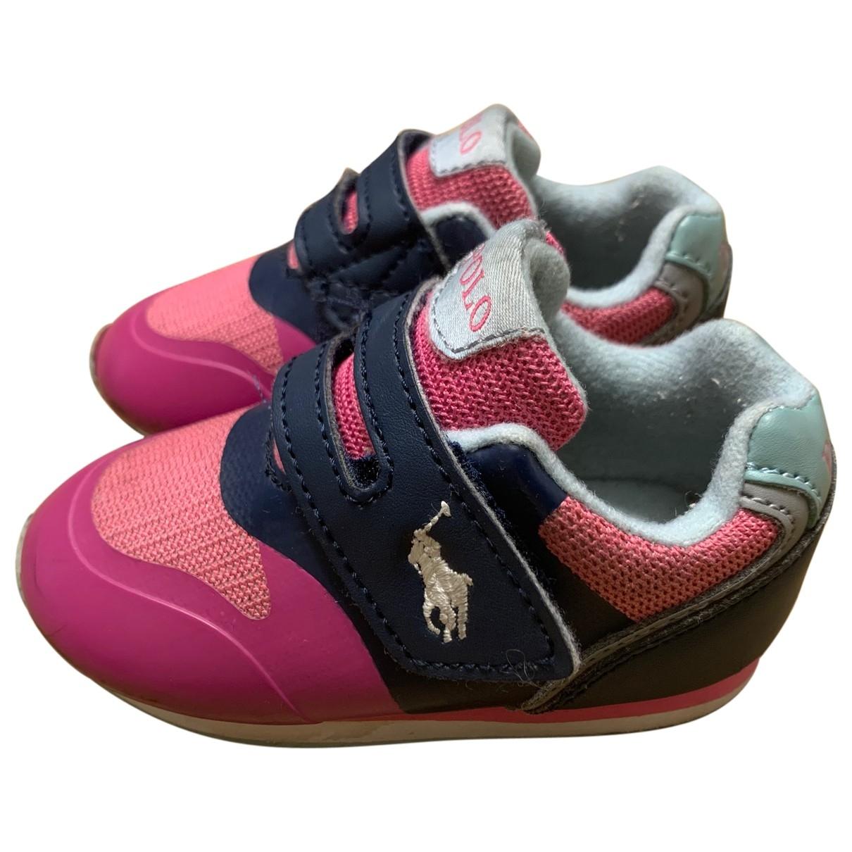 Polo Ralph Lauren \N Sneakers in  Rosa Leder