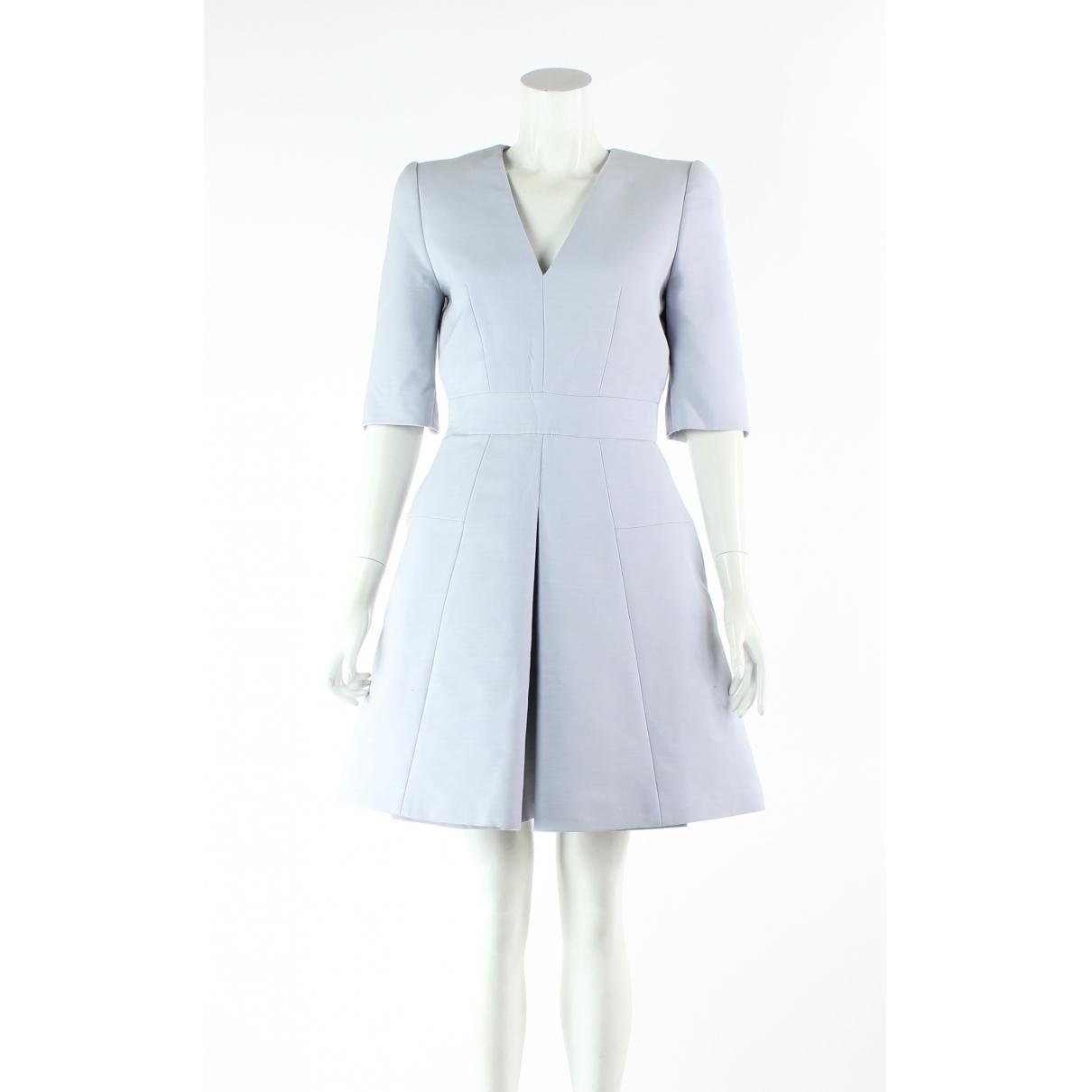 Alexander Mcqueen - Robe   pour femme en laine - argente