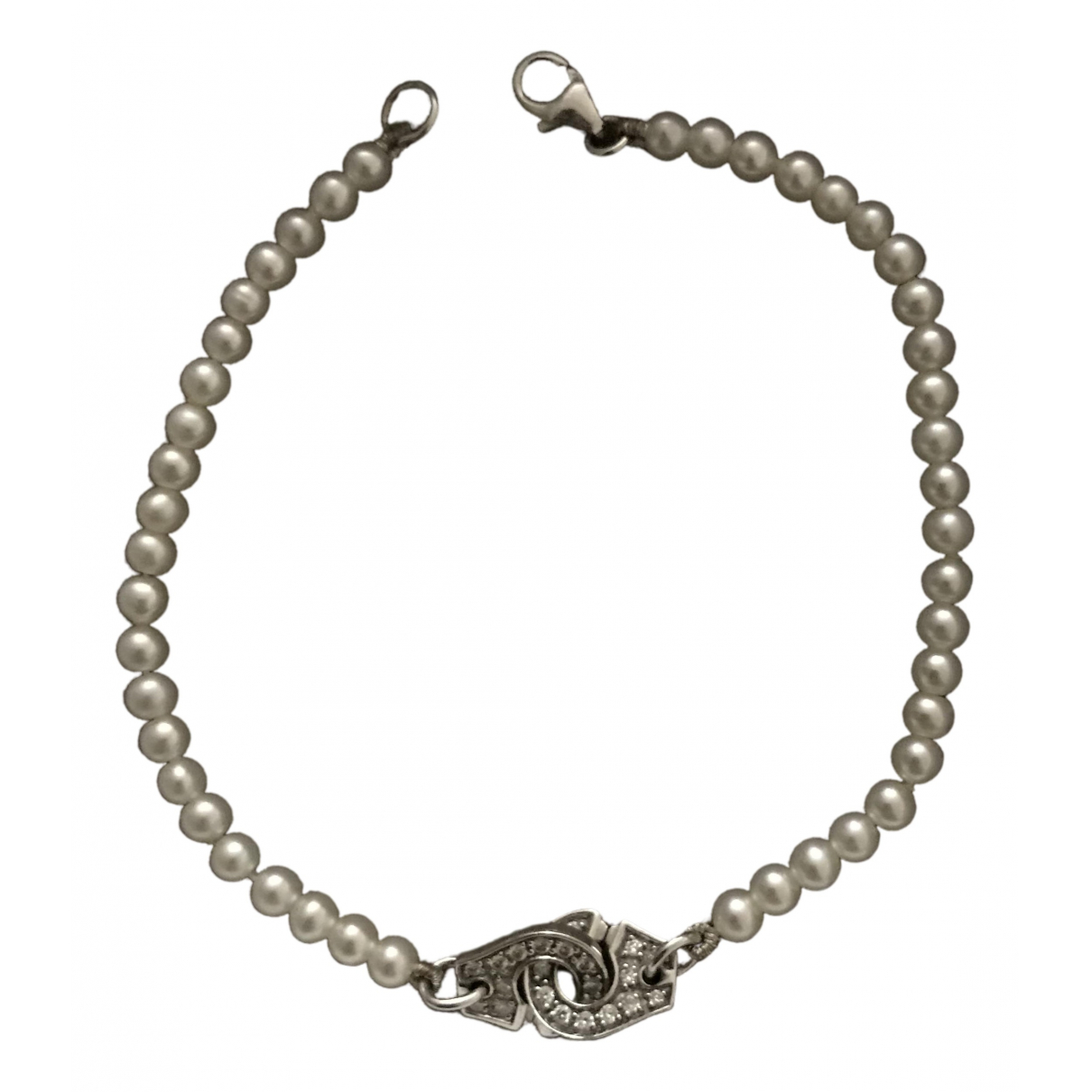 Dinh Van Menottes  Silver White gold bracelet for Women \N