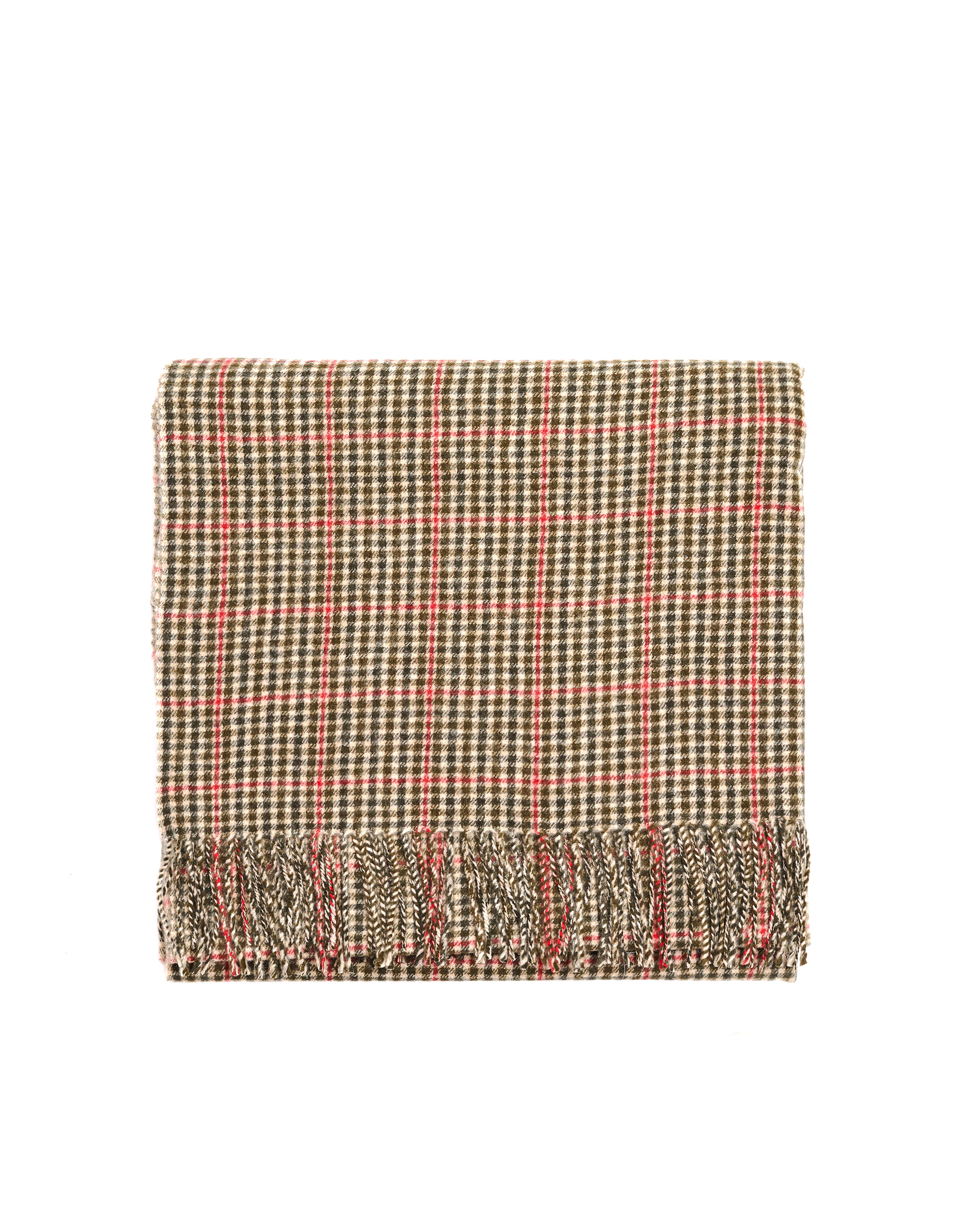 Undercover Black & Beige Checked Wool Scarf