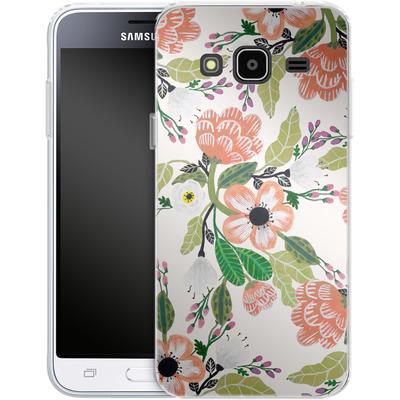 Samsung Galaxy J3 (2016) Silikon Handyhuelle - Botanical Dream von Iisa Monttinen