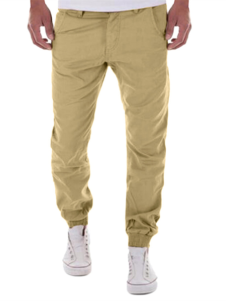 Yoins INCERUN Mens Cotton Ankle Banded Cargo Jogger Casual Pencil Pants