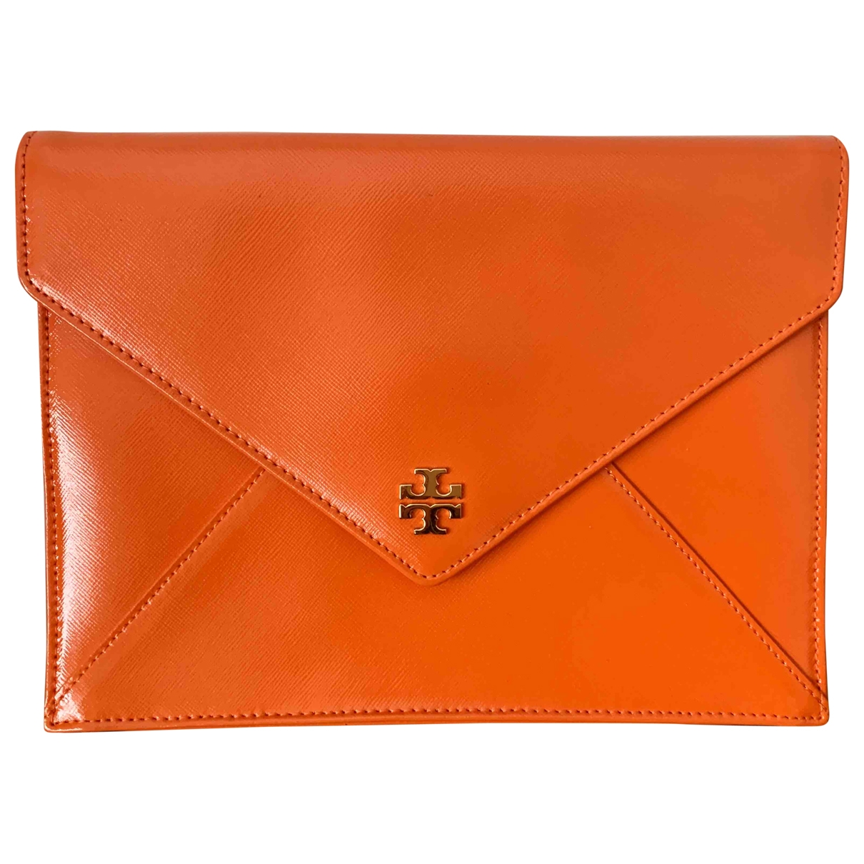 Tory Burch \N Clutch in  Orange Leder