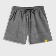 Shorts mit Buchstaben Grafik und Kordelzug um die Taille