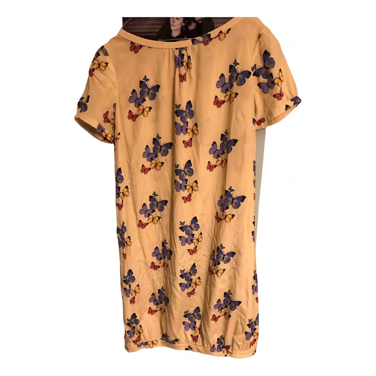 Attic And Barn \N Kleid in  Gelb Seide