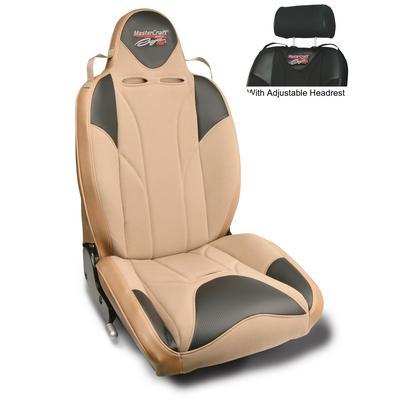 MasterCraft Safety DirtSport Reclining Front Seat with Adjustable Headrest (Tan/Brown) - 514128