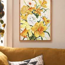Floral Pattern Wall Print Decor Without Frame