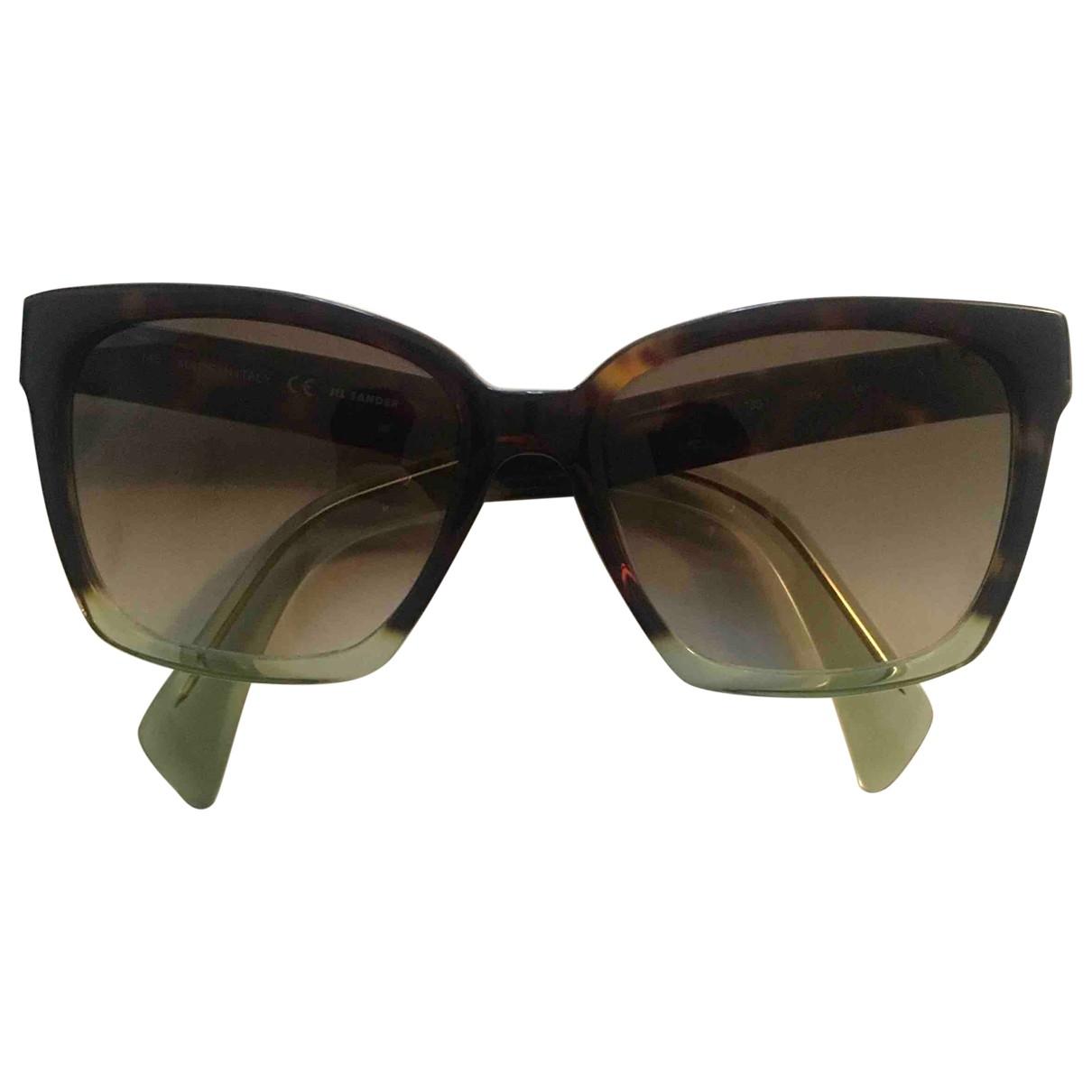 Jil Sander \N Sonnenbrillen in  Braun Kunststoff