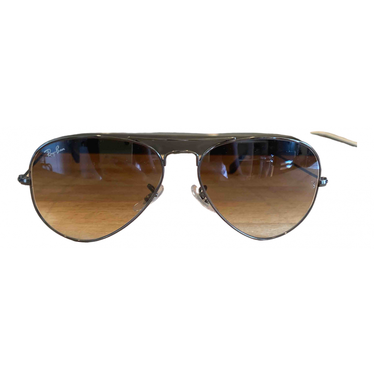 Ray-ban Aviator Metallic Metal Sunglasses for Women \N