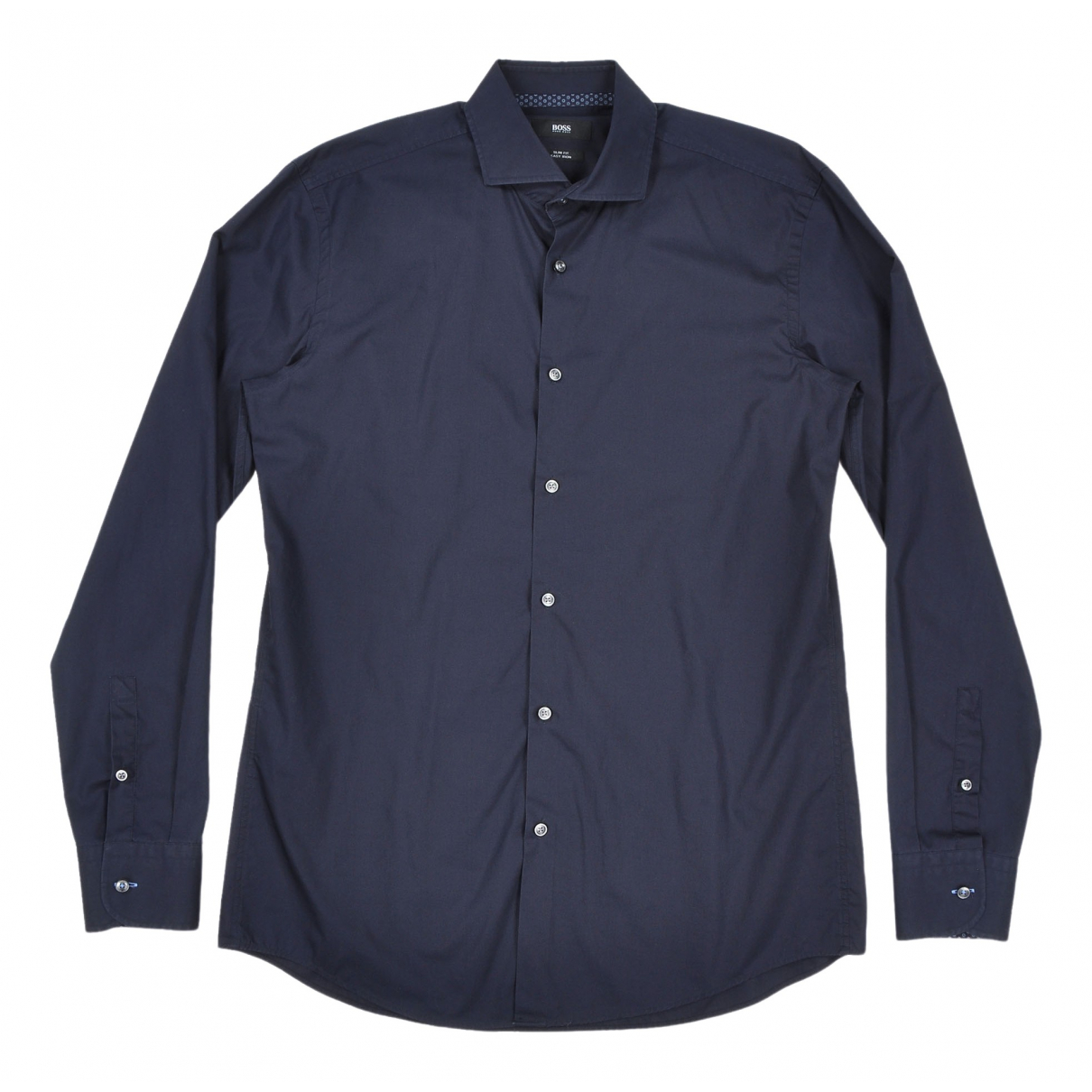 Boss \N Navy Cotton Shirts for Men 39 EU (tour de cou / collar)