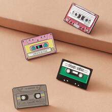 4pcs Magnetic Tape Design Brooch