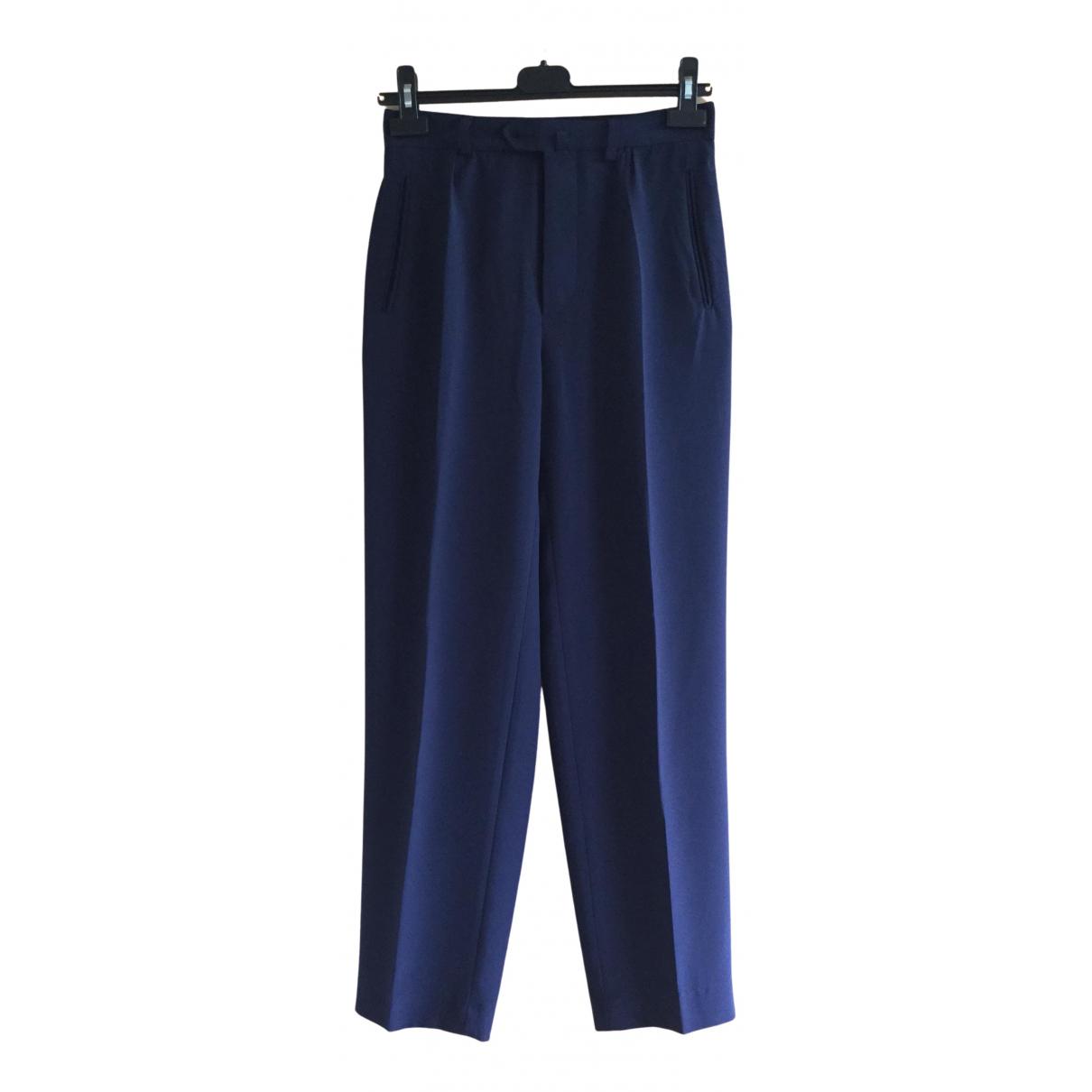 Agnès B. N Navy Trousers for Women 38 FR