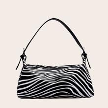 Baguette Tasche mit Zebra Muster