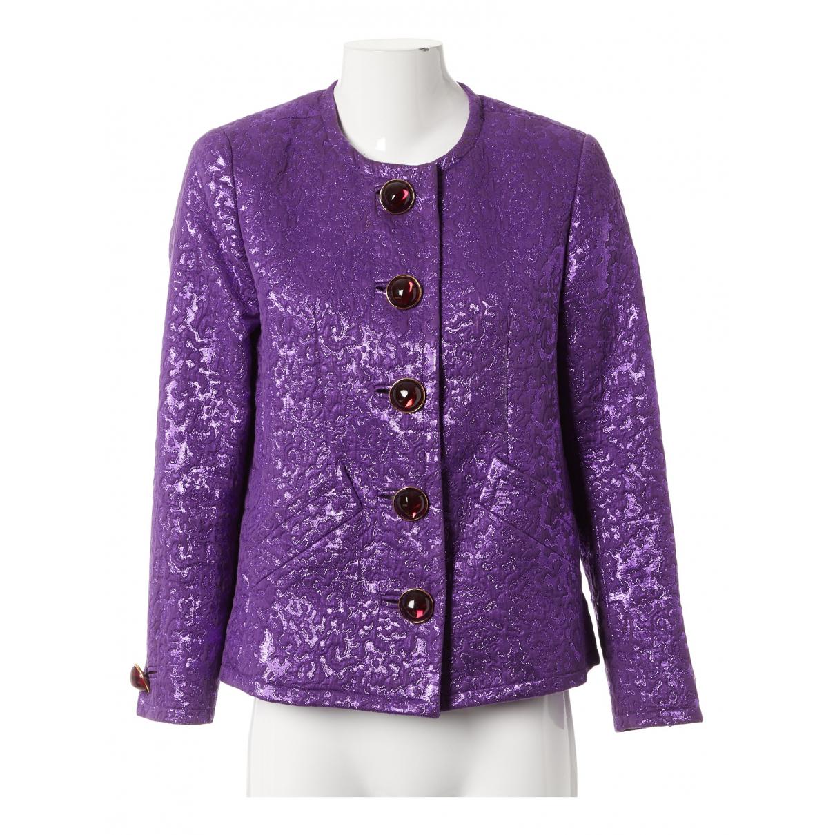 Yves Saint Laurent N Purple Silk jacket for Women 40 FR