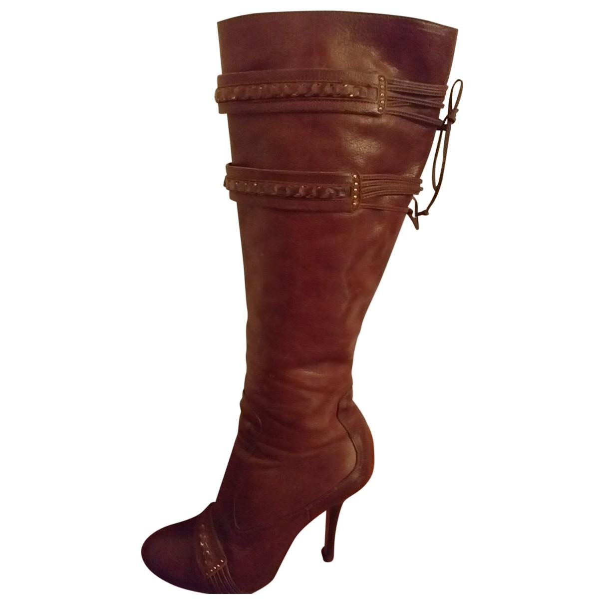 Ermanno Scervino \N Stiefel in  Braun Leder