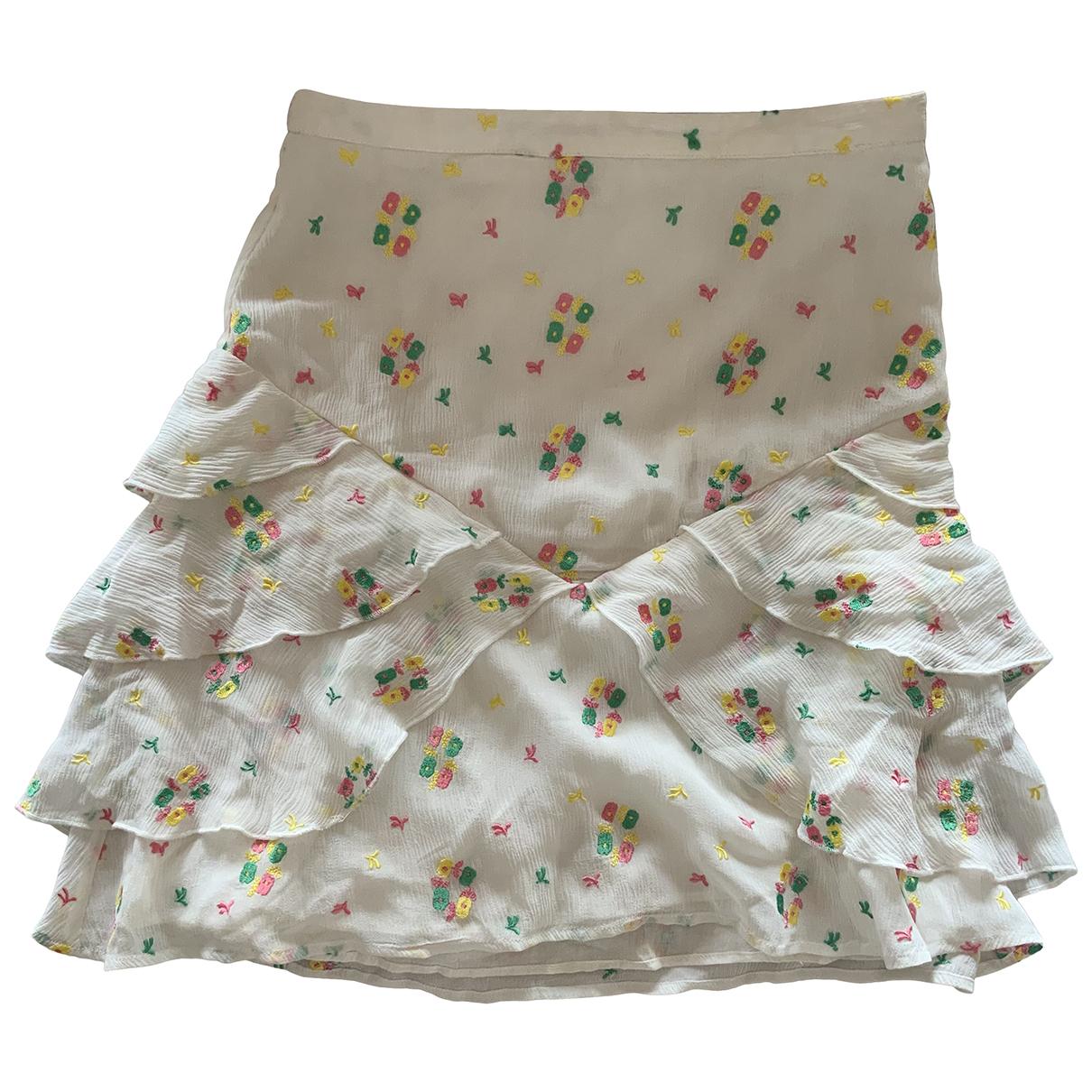 Manoush - Jupe   pour femme en coton - blanc
