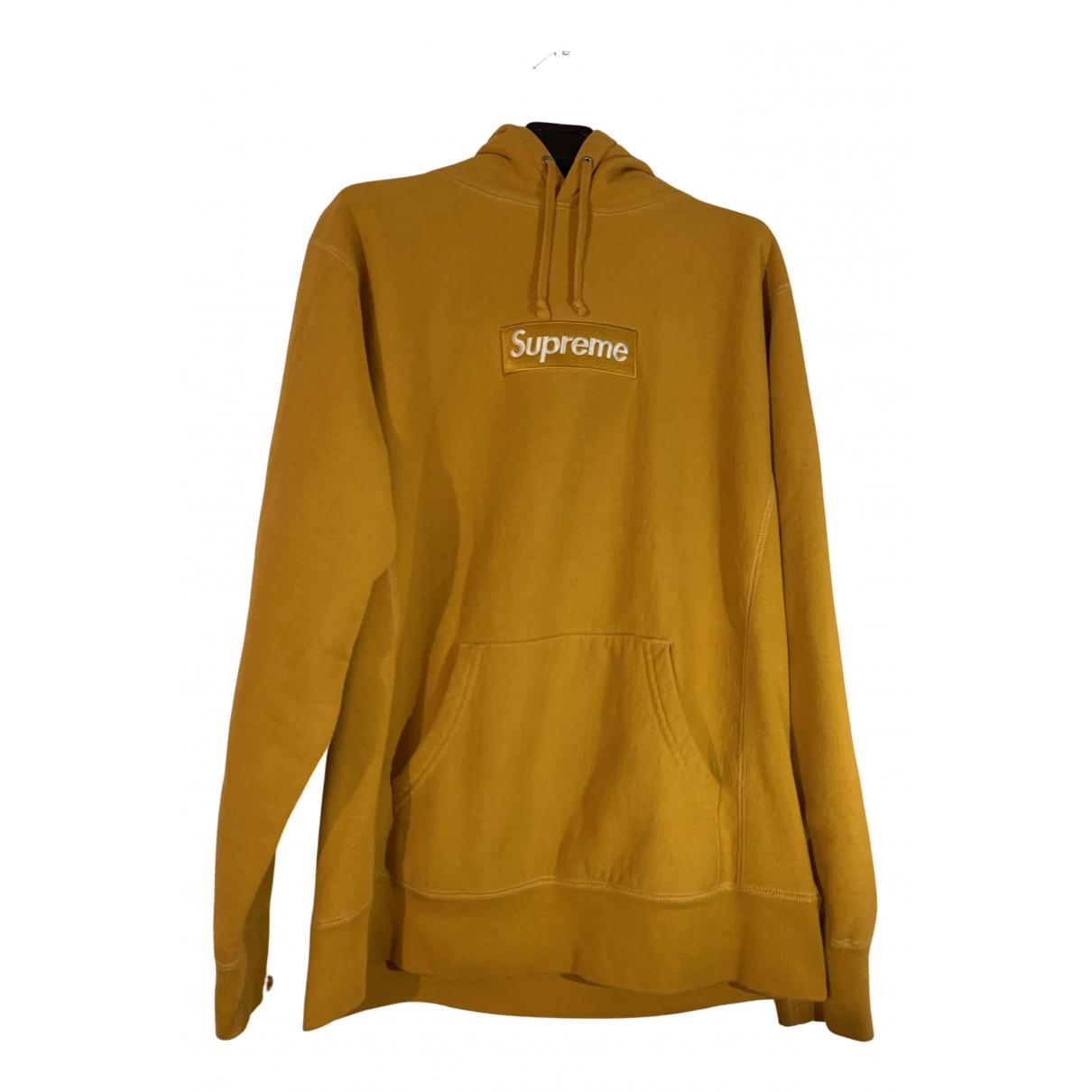 Supreme - Pulls.Gilets.Sweats   pour homme en coton - jaune