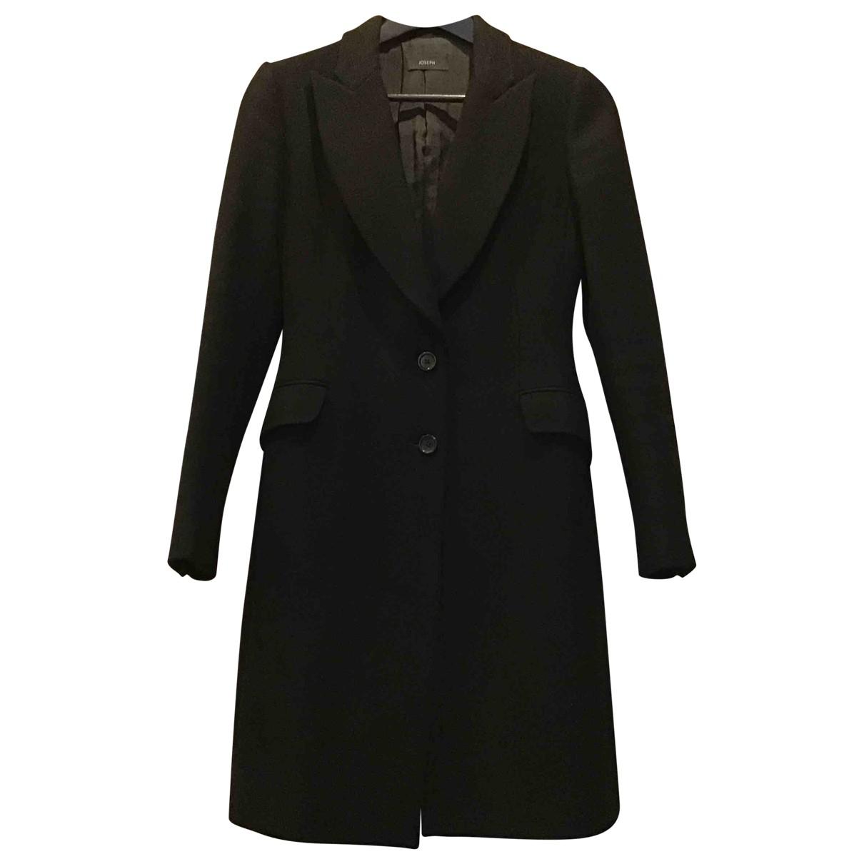 Joseph \N Black Wool coat for Women 36 FR
