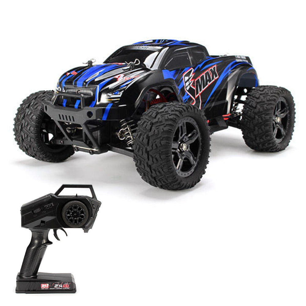Remo Hobby 1631 SMAX 2.4G 1:16 4WD Brushed Off-road RC Car Monster Truck RTR - Blue