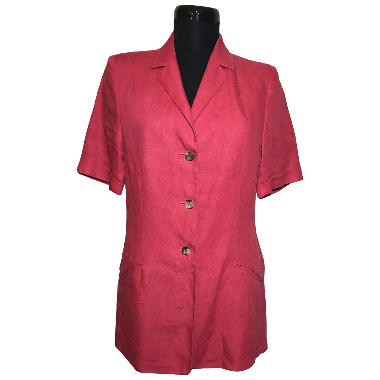 Bogner - Veste   pour femme en lin - rouge