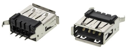 ASSMANN WSW USB Connector, Through Hole, Straight (5)