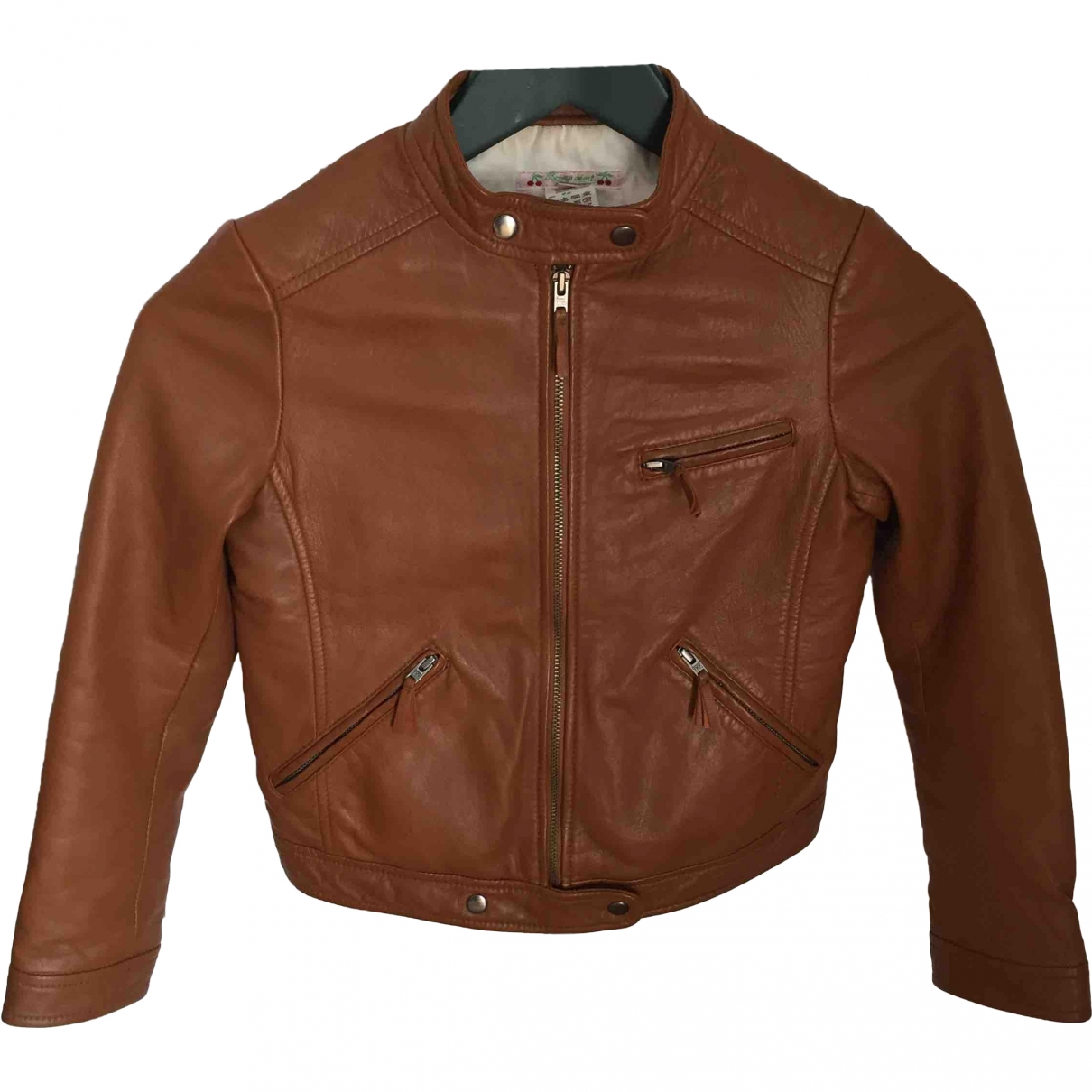 Bonpoint \N Camel Leather jacket & coat for Kids 10 years - up to 142cm FR