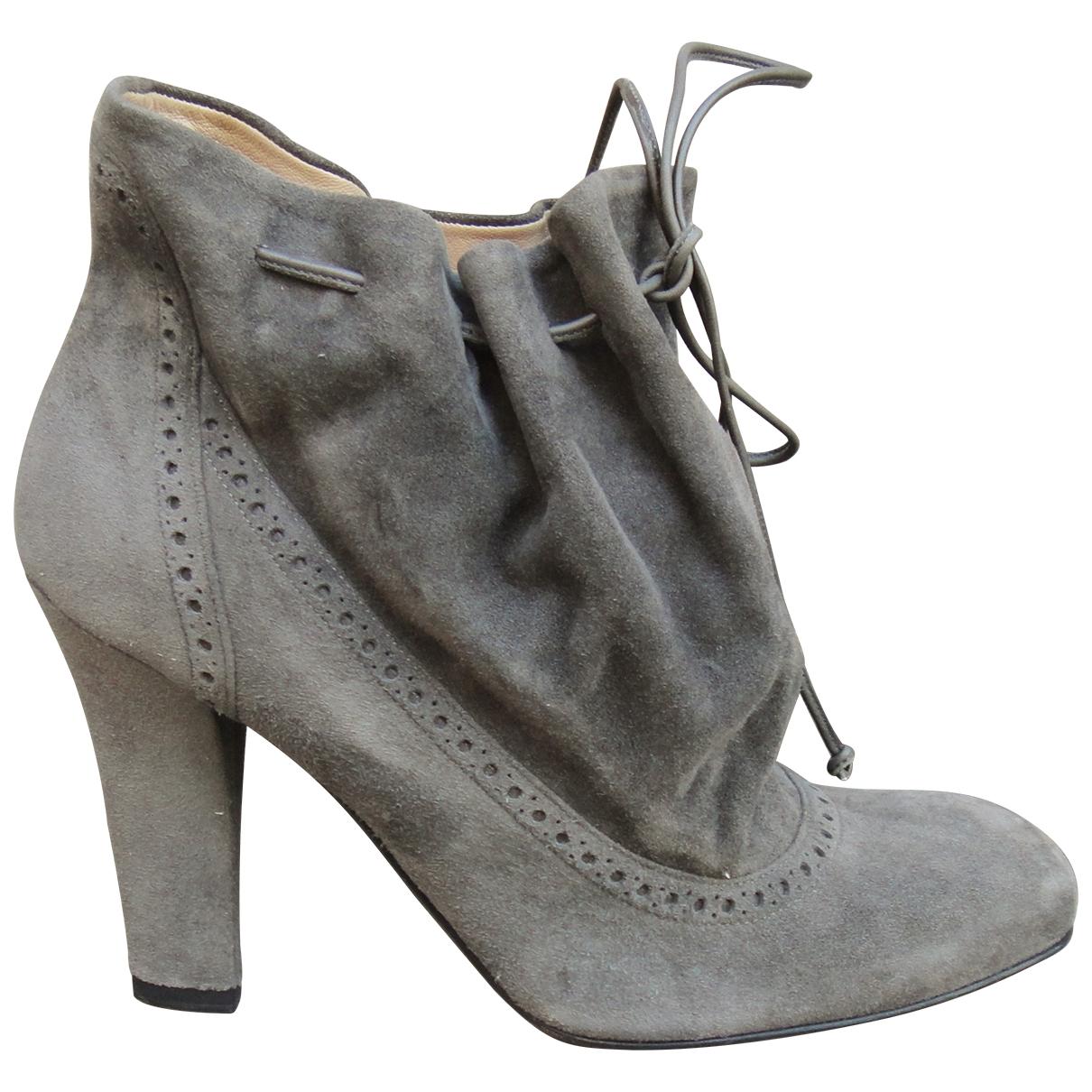 Fratelli Rossetti - Boots   pour femme en suede - gris
