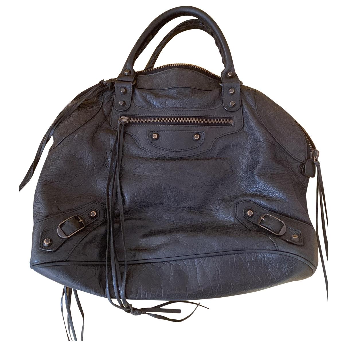 Balenciaga Velo Handtasche in  Schwarz Leder